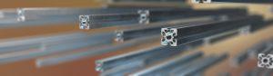 Aluminiumprofilsystem für Reinraumanlagen.