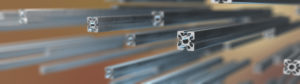 Aluminium profile system for cleanroom construction.
